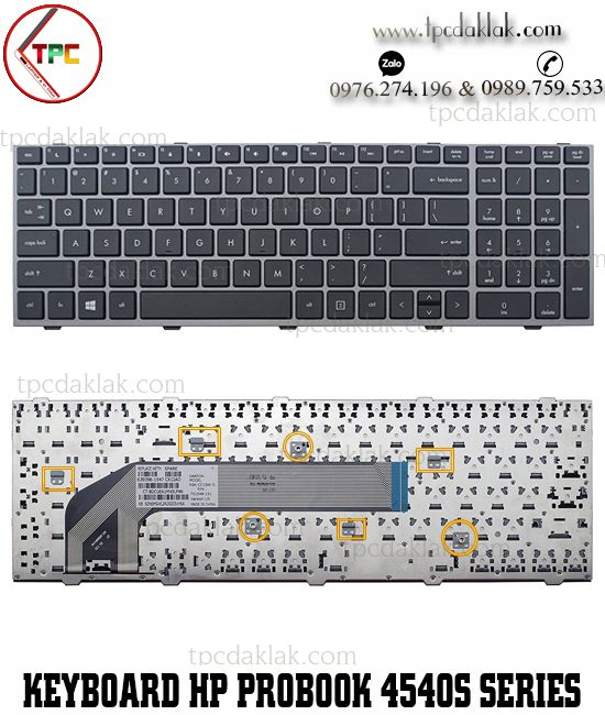 Bàn phím Laptop HP Probook 4740S, 4745S, 4540, 4540s, 4545, 4545s, NSK-CC1SW, 639396-001 Keyboard