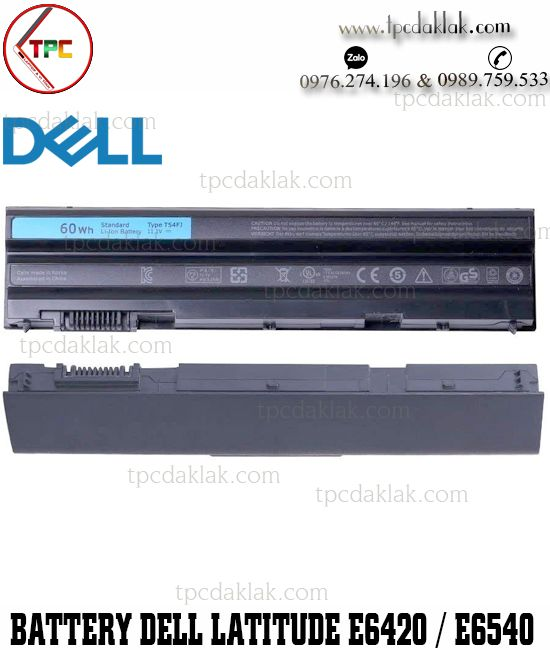 Pin Laptop Dell Latitude E6420, E5420, E5520, E6540 - Vostro V3460, V3560  - Inspiron 5520, 5420