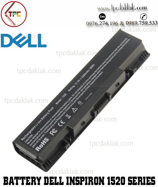Pin laptop Dell Inspiron 1520, 1521, 1720, 1721, 530s - Vostro 1500, 1700 | NR239, 0GR995, 312-0576