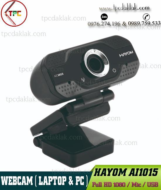 Webcam HAYOM AI1015 Full HD 1080p ( Video & Mic ) | Camera Máy Tính HAYOM AI1015 Full HD 1080p