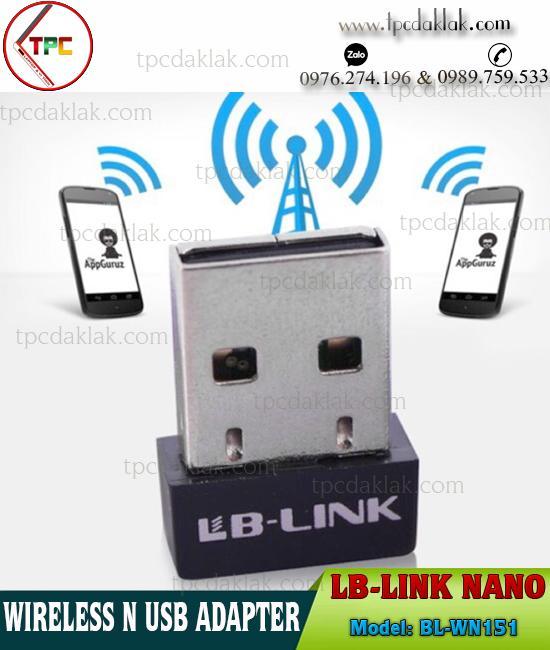USB Thu sóng Wifi BL-WN151 | LB-Link BL-WN151 Wireless N USB Adapter Nano Size 150Mbps