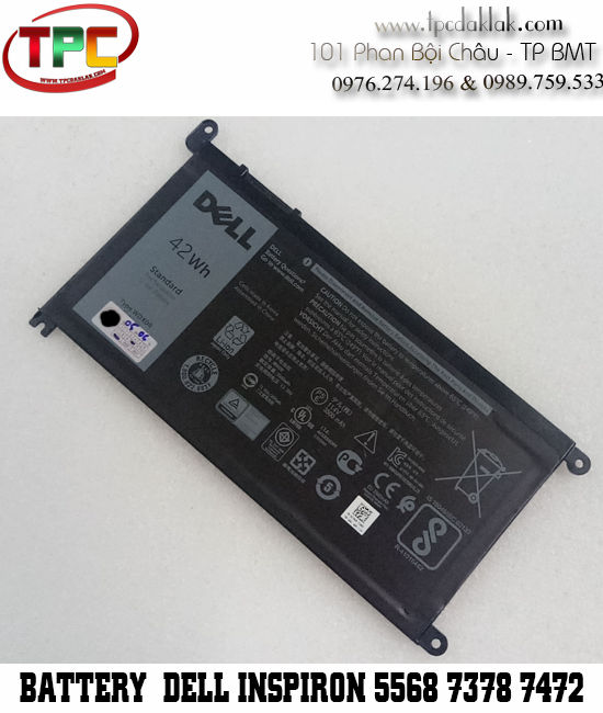 Pin Laptop Dell Inspiron 15-5565 5568 7569 | 14-7460 7472 3480 | 13-7368 7378 5378  | Latitude 3379, 3189, 3180