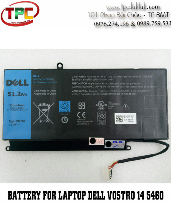 Pin Laptop Dell Vostro 14 V5460 - V5470 | Battery For Laptop Dell Vostro 14 V5460 - V5470 Series