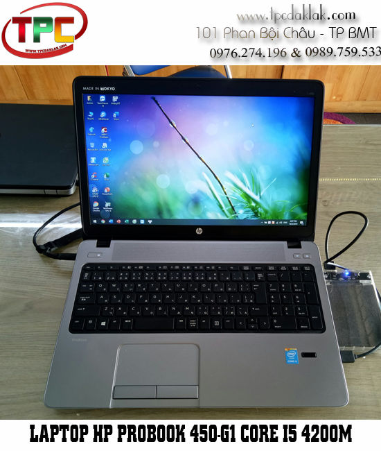 Laptop HP ProBook 450-G1 Core I5 4200M, Ram 4GB PC3L, SSD 120GB, HD Graphics 4600, LCD 15.6 INCH