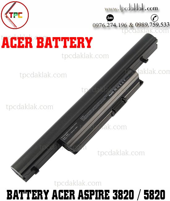 Pin Laptop Acer Aspire 3820, 4820, 5820, AS3820, AS3820, 7745G, 7339, 3820T, 5820TG, Travelmate 6594