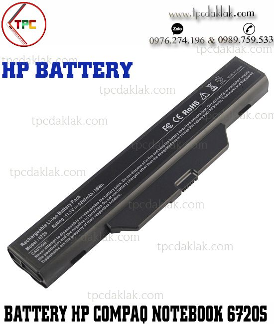 Pin Laptop HP Compaq 510, 550, 610 - HP Compaq Notebook PC 6720s, 6730s/CT, 6735s, 6820s, 6830s