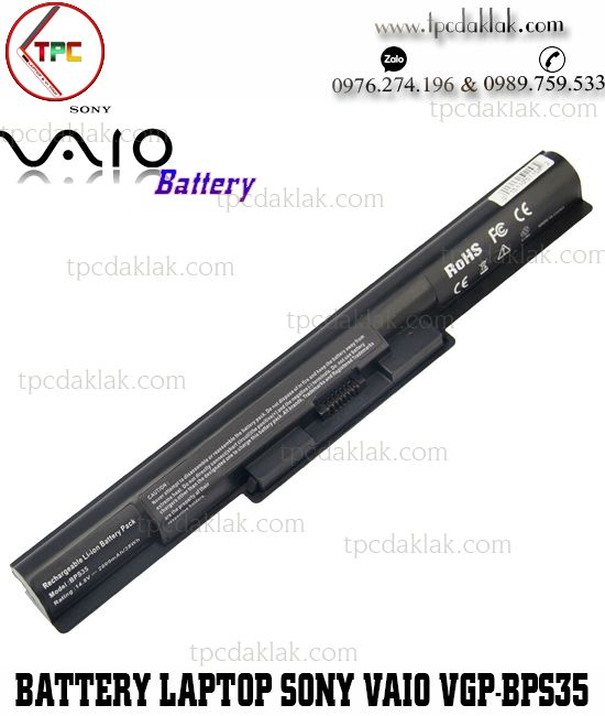 Pin Laptop Sony VAIO VGP-BPS35, VGP-BPS35A, 14E, 15E, SVF14, SVF-15N, SVF15, SVF14215SC, SVF15216SC