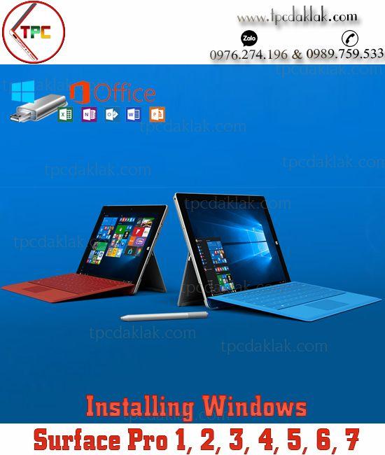 Cài Hệ Điều Hành Windows OS 10, 8.1 cho Surface Pro 1, 2, 3, 4, 5, 6, 7 tại Buôn Ma Thuột, Dak Lak