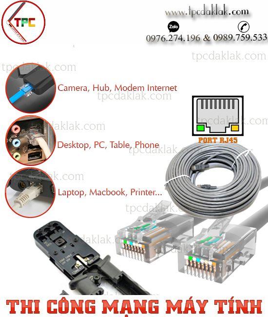 Bảo trì mạng, nâng cấp mạng, thi công mạng internet-wifi gia đình tại Buôn Ma Thuột, Dak Lak