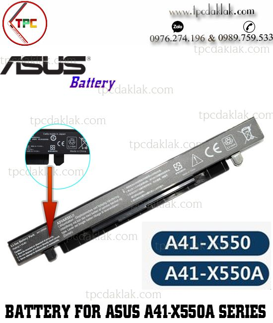 Pin Laptop Asus X450 - X550 - K450 - Y481C - R510 Series | Battery For Laptop  X450 - X550