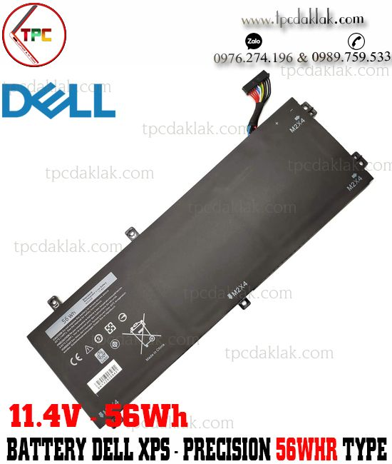 Pin Laptop Dell XPS 15 9560, 9550, 9570 - Dell Precision 5510, M5540, M5530, M5520 | H5H20 - 11.4V 56Wh