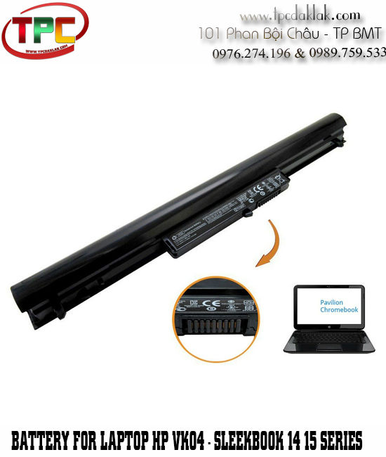 Pin Laptop HP VK04 - Battery HP Pavilion Sleekbook 14t 14z 15t 15z VK04 HSTNN-DB4D TPN Q115