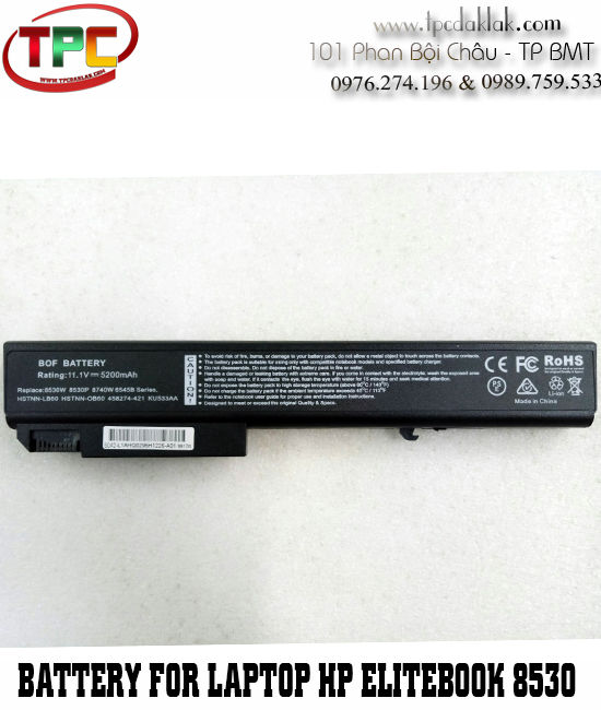Pin Laptop HP Elitebook 8530p 8530w 8540p 8730p 8730w 8740w  8500  - HP ProBook 6545b