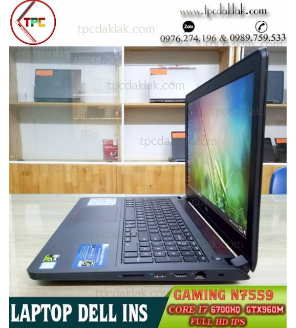 Laptop Dell Inspiron 15 N7559 Gaming / Core I7 600HQ / Ram 8GB / SSD 128GB + HDD 1TB / GTX 960M