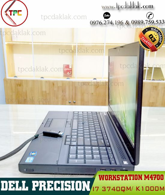Laptop Dell Precision M4700 / Core I7 3740QM / Ram 8GB / SSD 256GB / K1000M / 15.6 FHD