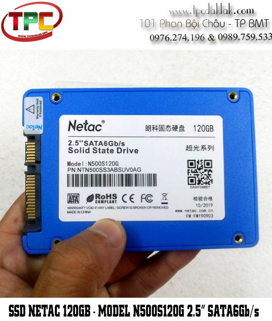 SSD NETAC 120GB-N500S120G 2.5INCH SATA6Gb/s - Ổ cứng SSD 120GB Sata III cho Laptop, Máy tính
