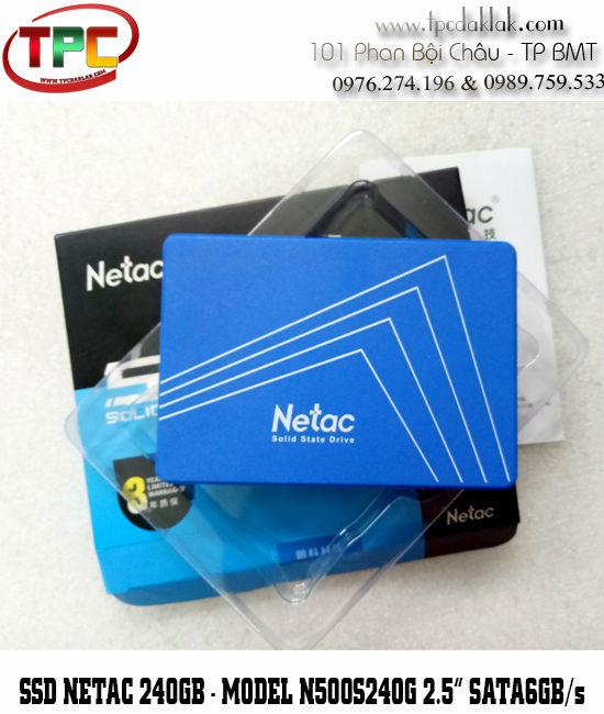 SSD NETAC 240GB-N500S240G 2.5INCH SATA6Gb/s - Ổ cứng SSD 240GB Sata III cho Laptop, Máy tính