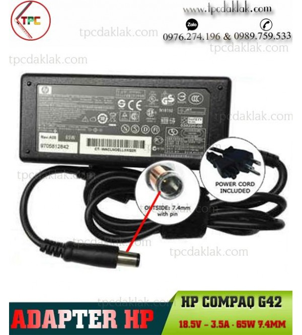 Sạc Laptop Hp G42 18.5V – 3.5A - 65W 7.4mm   Adapter For Laptop HP G42 18.5V – 3.5A - 65W 7.4mm