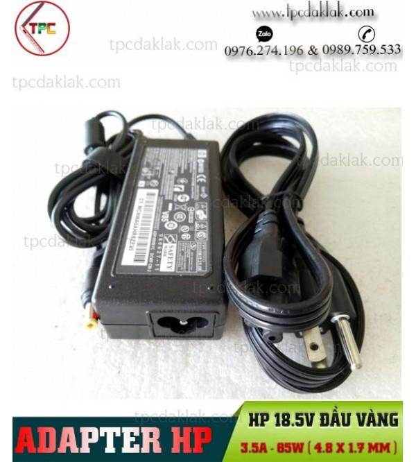 Sạc Laptop HP 18.5V-3.5A-65W- 4.8mm X 1.7mm N193 ADP-65HB FC | Sạc Laptop HP Đầu Vàng