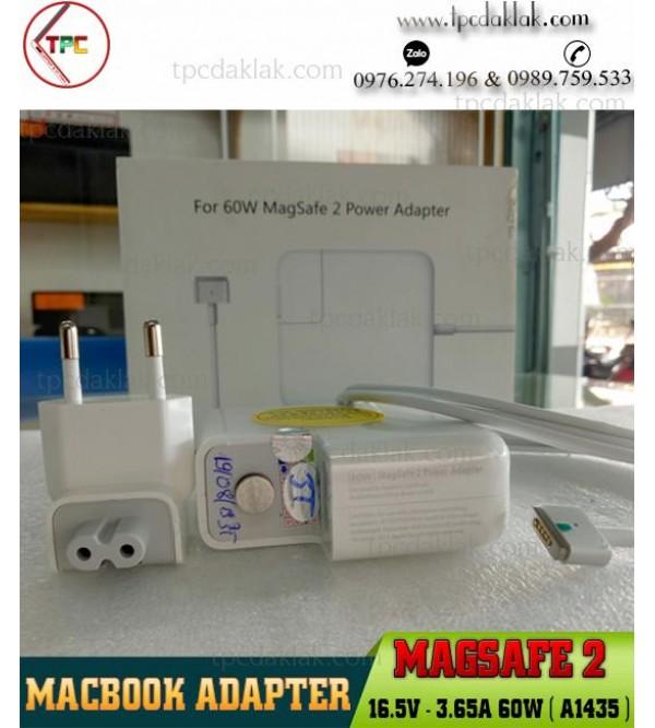 Sạc Macbook Magsafe 2 16.5V - 3.65A 60W ( A1435 )   Adapter Macbook Model  A1435 16.5V - 3.65A 60W