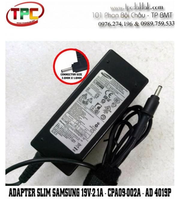 Sạc Laptop Samsung 19v-2.1A 40W CPA09-002A AD-4019 | Adapter Samsung 19v-2.1A 40W 3.0 x 1.0mm