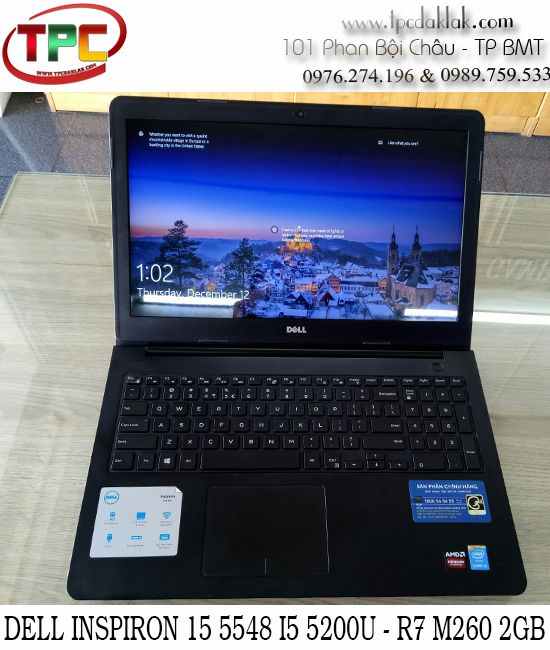 "Laptop Dell Inspiron 15 5548 - Core I5 5200U/ Ram 4GB / HDD 500GB / Amd R7 M260 2GB / 15.6""HD"
