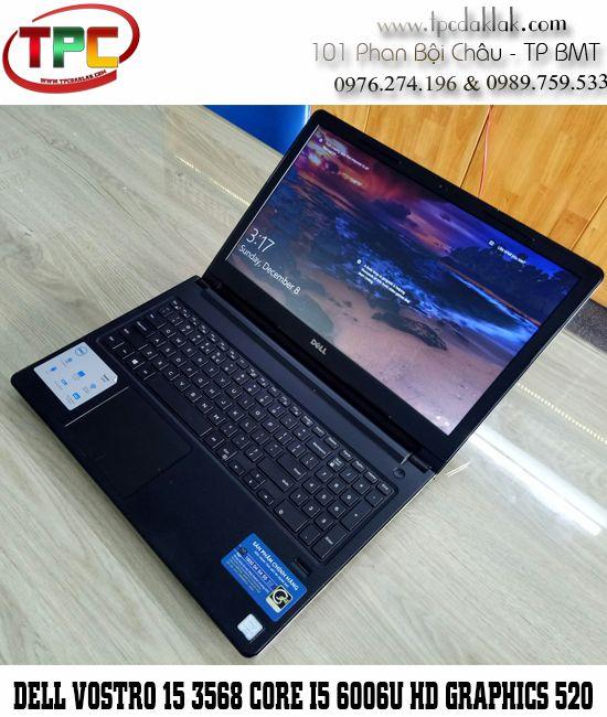 Laptop Dell Vostro 15 3568 / Core I3 6006U / Ram 4GB / SSD 120GB / HD Graphics 520 / LCD 14.0 INCH