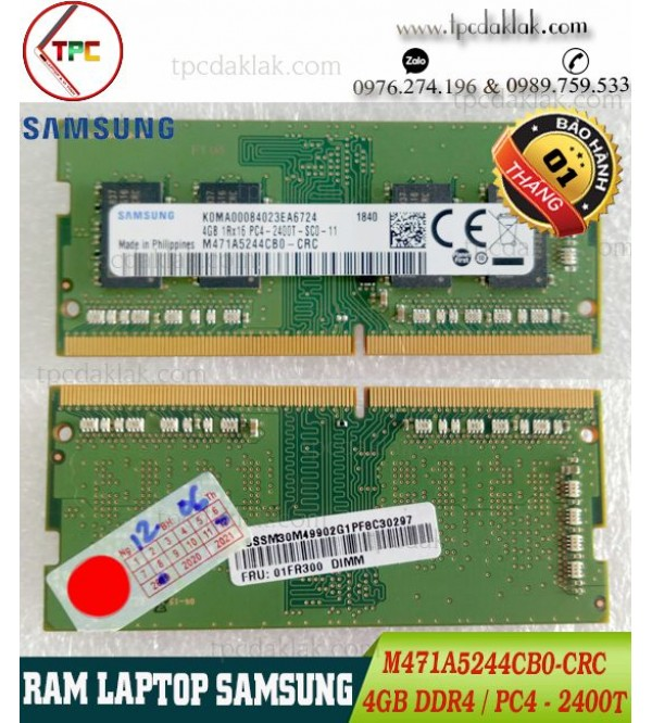 RAM LAPTOP SAMSUNG 4 GB 1Rx16 PC4-2400T |RAM LAPTOP 4GB PC4-2400T M471A5244CB0-CRC