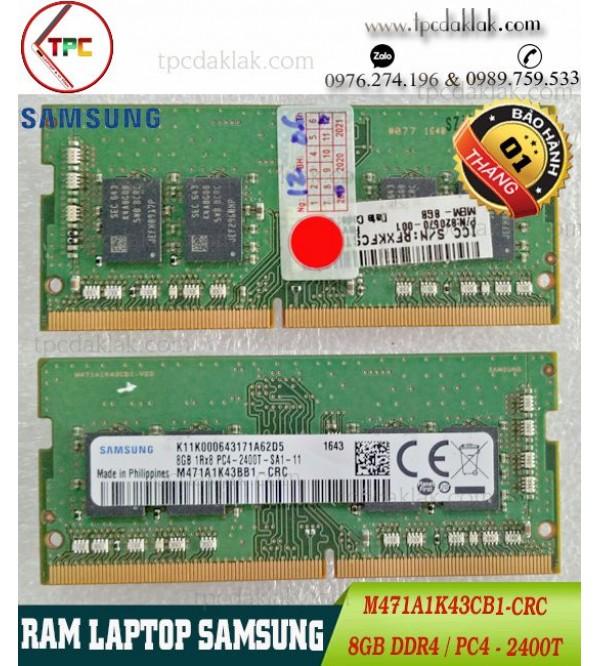 RAM LAPTOP SAMSUNG 8 GB 1Rx8 PC4-2400T  RAM LAPTOP 8GB PC4-2400T M471A1K43CB1-CRC