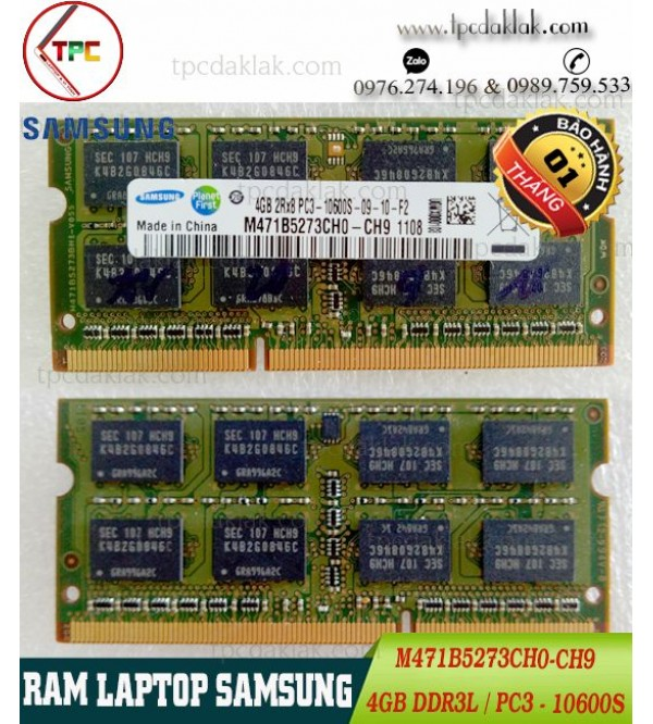 RAM LAPTOP SAMSUNG 4GB 2Rx8 PC3-10600S |RAM LAPTOP 4GB PC3-10600S M471B5273CH0-CH9