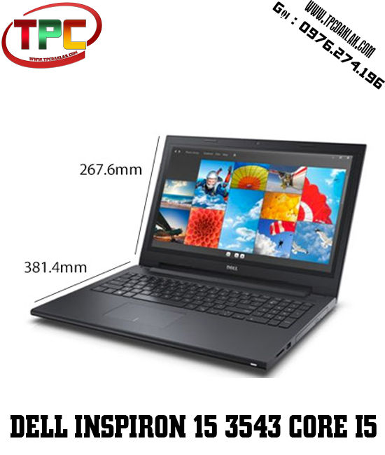 Laptop Dell Inspiron 15 3543 Corre I5-5200U/ RAM 4G / HDD 500GB / Nidia Gefore 820M2GB / 15.6INCH HD