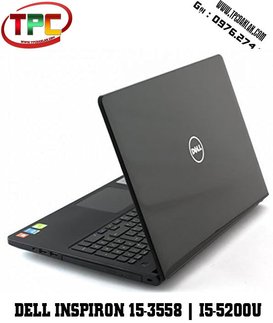 Laptop Dell Inspiron 15-3558 | i5-5200U | 4GB | 500GB | 15.6 inch HD(1366×768) | VGA nVidia Geforce 820M