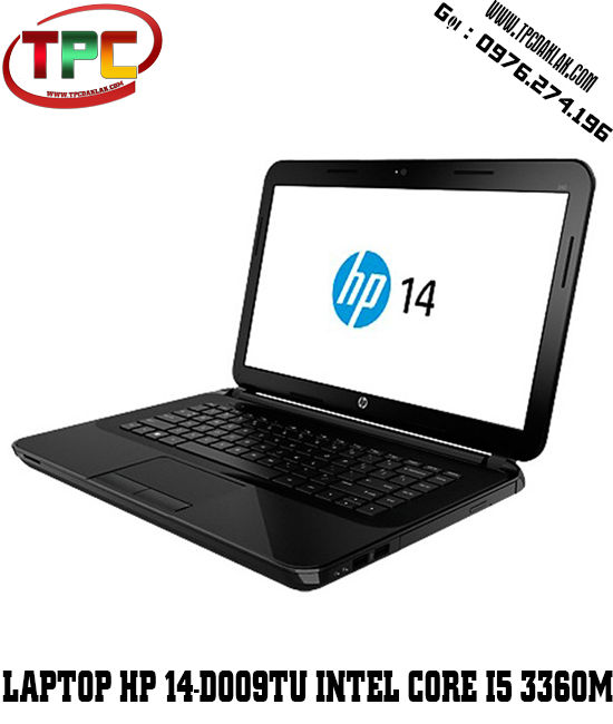 Laptop HP 14 d009TU (F6D54PA) Core i5-3360M ,Ram 4GB, 500GB HDD,Intel HD Graphics 4000, 14 inch