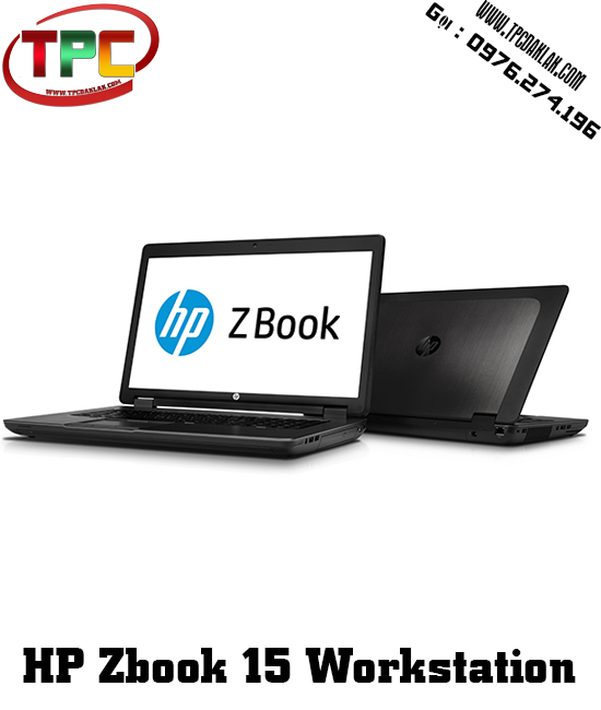 LAPTOP  WORKSTATION  HP ZBOOK 15 (CORE I7-4800MQ, QUADRO K2100M, RAM 8GB, SSD128GB )