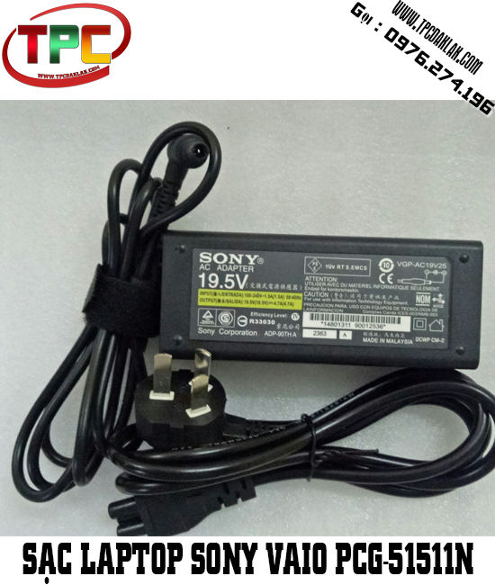 SẠC LAPTOP SONY VAIO PCG-51511N | Adapter Laptop Sony Vaio  PCG-51511N  AC 19.5V - 4.7A