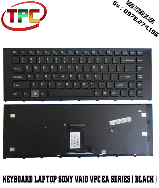 Bàn phím Laptop Sony Vaio VPC-EA Series ( Màu Đen )  | Keyboard For Sony Vaio VPC-EA Series Black