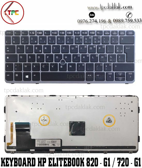 Bàn phím Laptop HP Elitebook 820 G1 820 G2 720 G1 720 G2 725 G2  Keyboard HP 820-G1