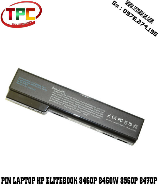 PIN LAPTOP HP ELITEBOOK 8460P, 8560P, 8460W, 8470P, 8570P, 8470W (6Cell, 6200mAh)
