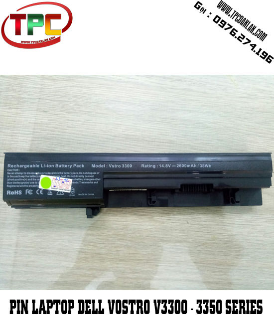 Pin Laptop Dell Vostro V3300 - 3350 Series | Battery For Dell Vostro V3300 - V3350 Series