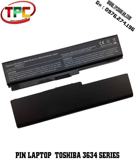 Pin Laptop Toshiba 3634 Series | SS M60 Series | Dynabook T551 Series | Satellite Pro C650 Series