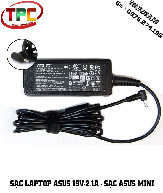 Sạc Laptop Asus 19V - 2.1A ( Mini ) | Adapter Asus Mini EXA0901XH 19V 2.1A - 2.5 x 0.7mm