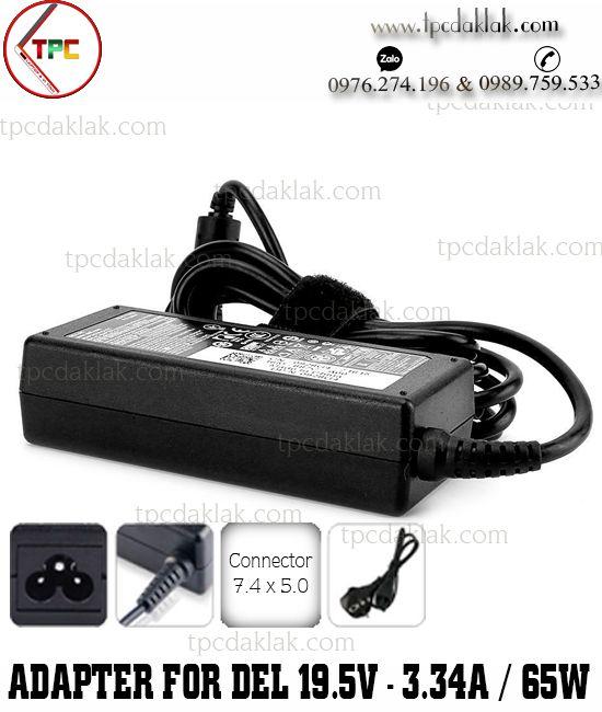 Sạc Laptop Dell Latitude E3480, E3580 Series ( OEM Design ) | Adapter 19.5V - 3.34A - 65W (  7.4 X 5.0MM )