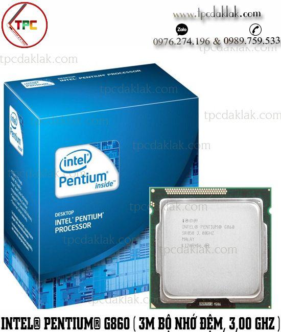 Bộ xử lý Intel® Pentium® G860 | Chip CPU Intel® Pentium® Processor G860 (3M Cache, 3.0 GHz)