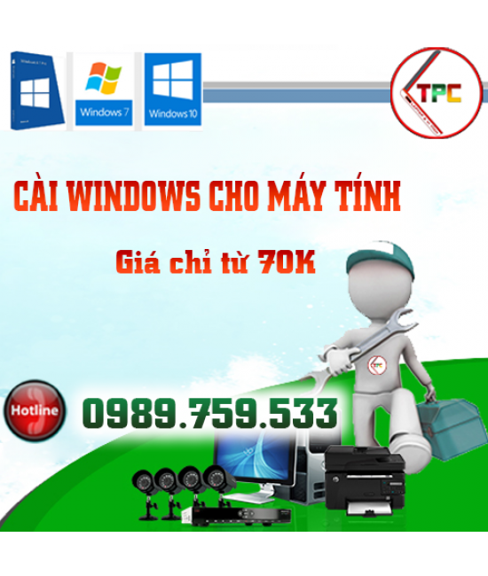 Cài Windows Laptop Dell, HP, Asus, Acer,Toshiba, Sony Vaio, Lenovo, Samsung tại Dak Lak