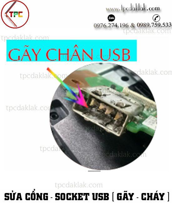 Sửa chữa, thay thế cổng usb, board usb laptop bị gãy socket hoặc cháy cổng usb tại BMT , Dak Lak