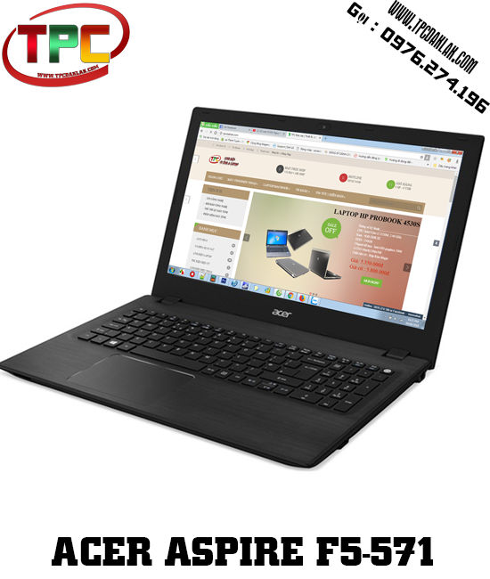 Laptop  Acer Aspire F5-571-34Z0 Core I3-5005U - RAM 4GB - HDD 500GB | Laptop Xách Tay Đak Lak