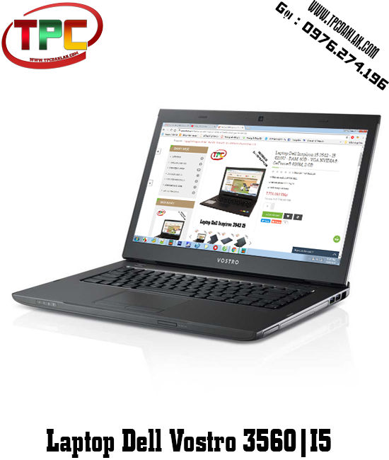 Laptop cũ Dell Vostro 3560 I5 3320M, 4GB, 250GB, Intel HD Graphics 4000, 15.6 inch