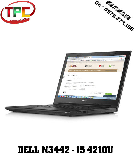 Laptop Dell Inspiron 14 3442 |Core i5 4210U | Ram 4G | HDD 500G| LCD14 inches | Laptop Đak Lak