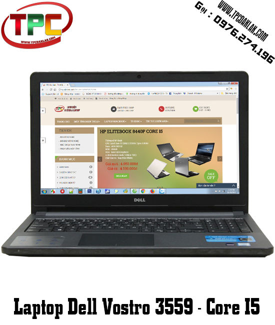 LAPTOP DELL VOSTRO 15 3559 - CORE I5 - RAM 4GB - HDD 500GB - VGA 2GB - 15 INCHES | LAPTOP ĐAK LAK