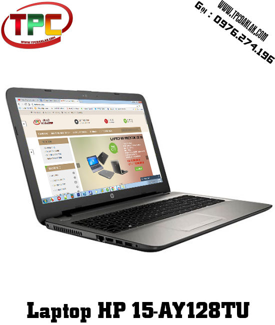 Laptop HP Notebook 15-AY128TU |Core i3-7100U| Ram 4GB |HDD 500GB| Laptop cũ Đak Lak